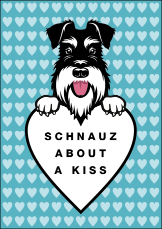 Schnauz about a kiss card image