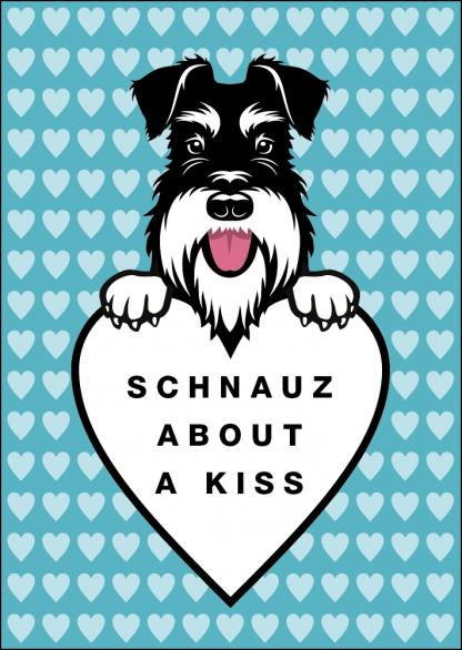 Schnauz about a kiss card image