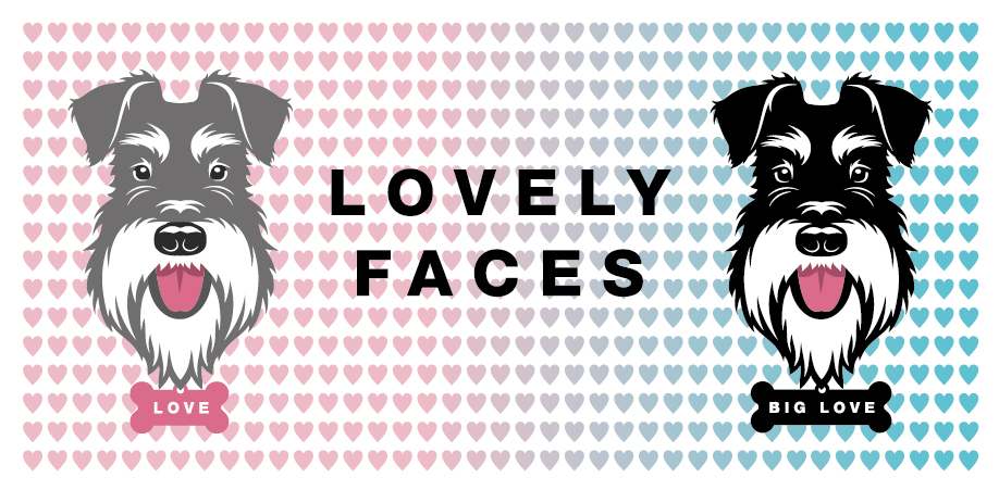 Lovely faces graphic