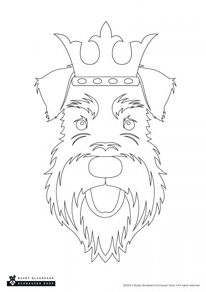 outline face crown