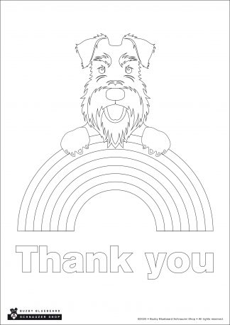 Thank you rainbow colouring sheet