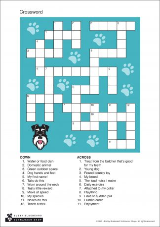 crossword empty template