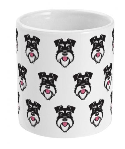 Mini faces mug Silver & Black - Front view