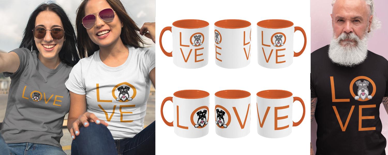 t-shirt and mug montage